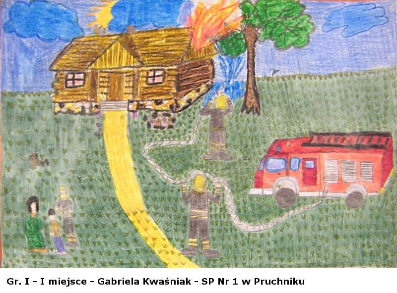 Galeria zdjęć: Wyniki eliminacji gminnych XIV edycji Ogólnopolskiego Konkursu Plastycznego dla dzieci i młodzieży pod hasłem: '20 lat Państwowej Straży Pożarnej - Jak nas widzą tak nas malują'