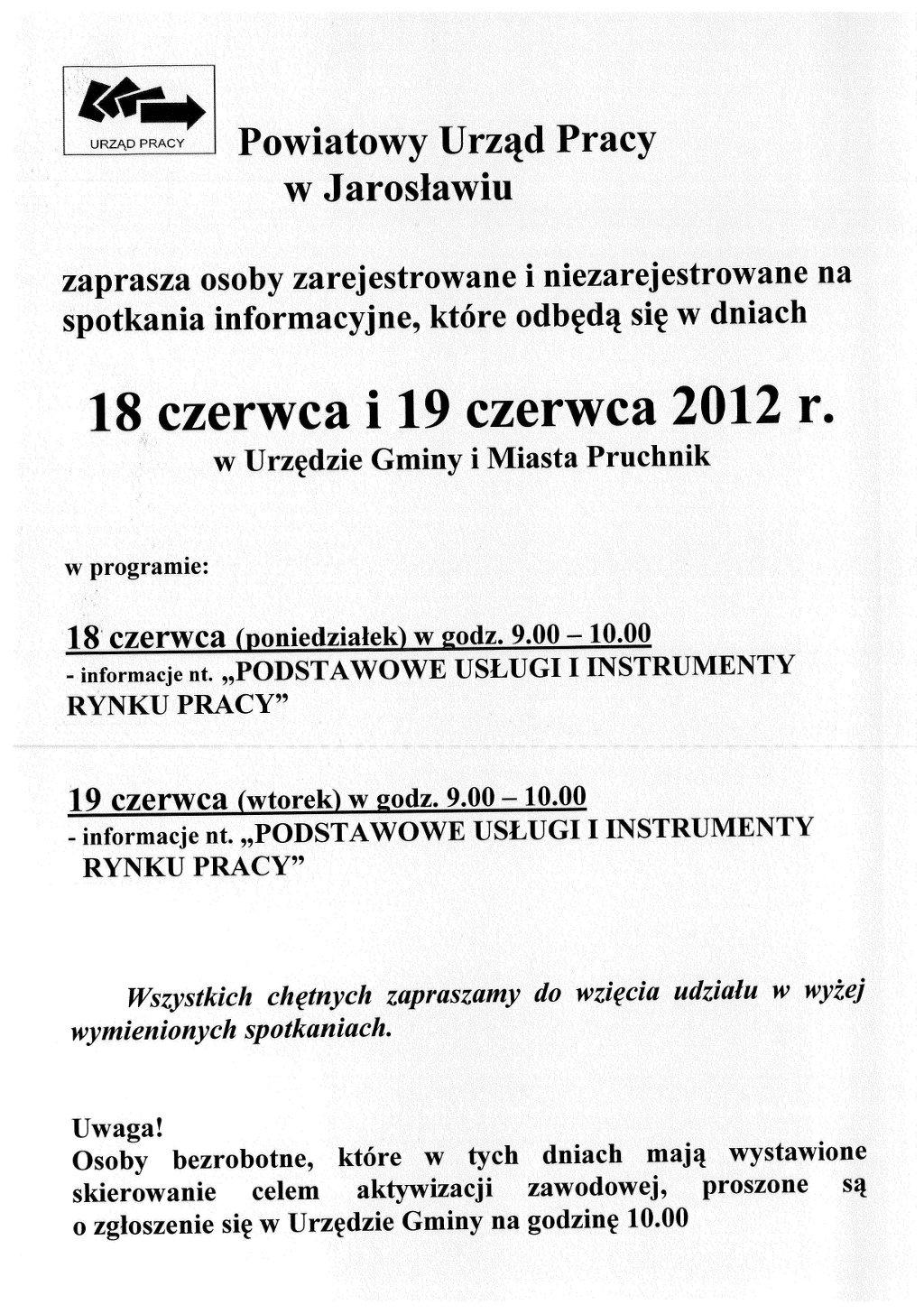 Galeria zdjęć: Spotkanie Informacyjne Powiatowego Urządu Pracy w Jarosławiu