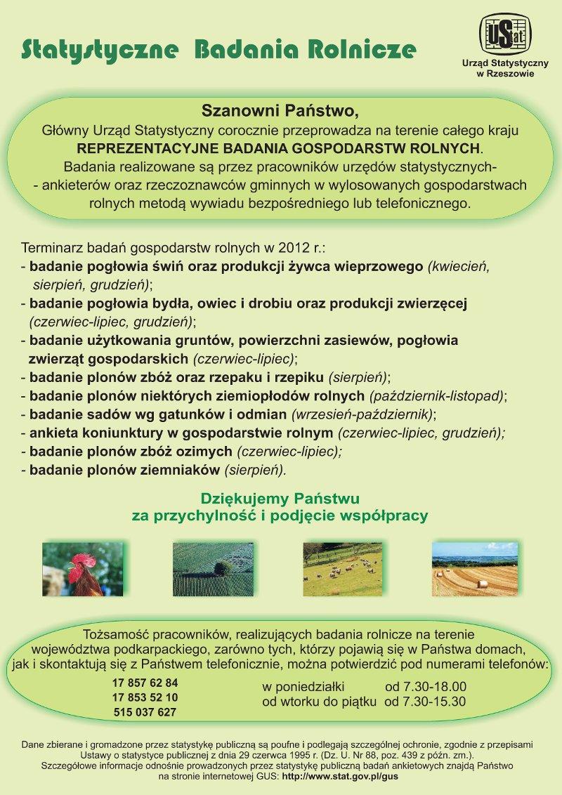 Galeria zdjęć: Statystyczne Badania Rolnicze - GUS