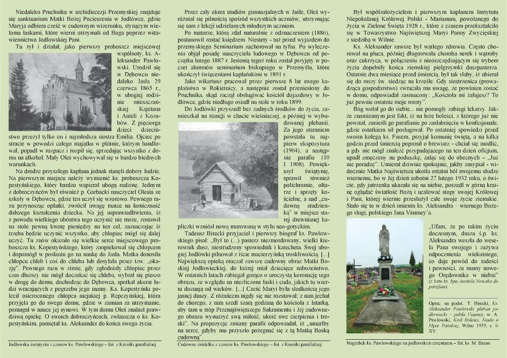 Galeria zdjęć: Publikacje kazań księdza Aleksandra Pawłowskiego i renowacja (remont) jego pomnika