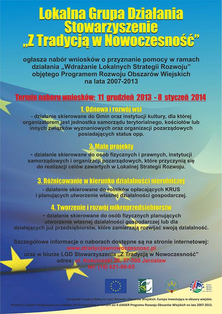 Galeria zdjęć: Zaproszenie na szkolenie informacyjne dla społeczności lokalnej LGD w Pruchniku