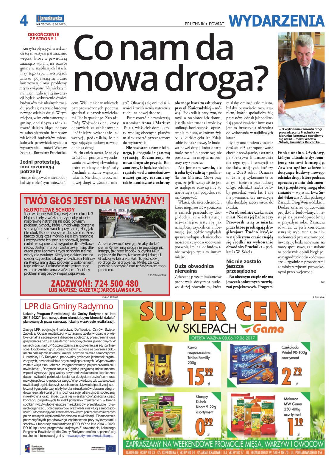 Galeria zdjęć: 'Co nam da nowa droga' - Gazeta Jarosławska pisze o remoncie drogi wojewódzkiej Nr 881 Pruchnik - Kańczuga