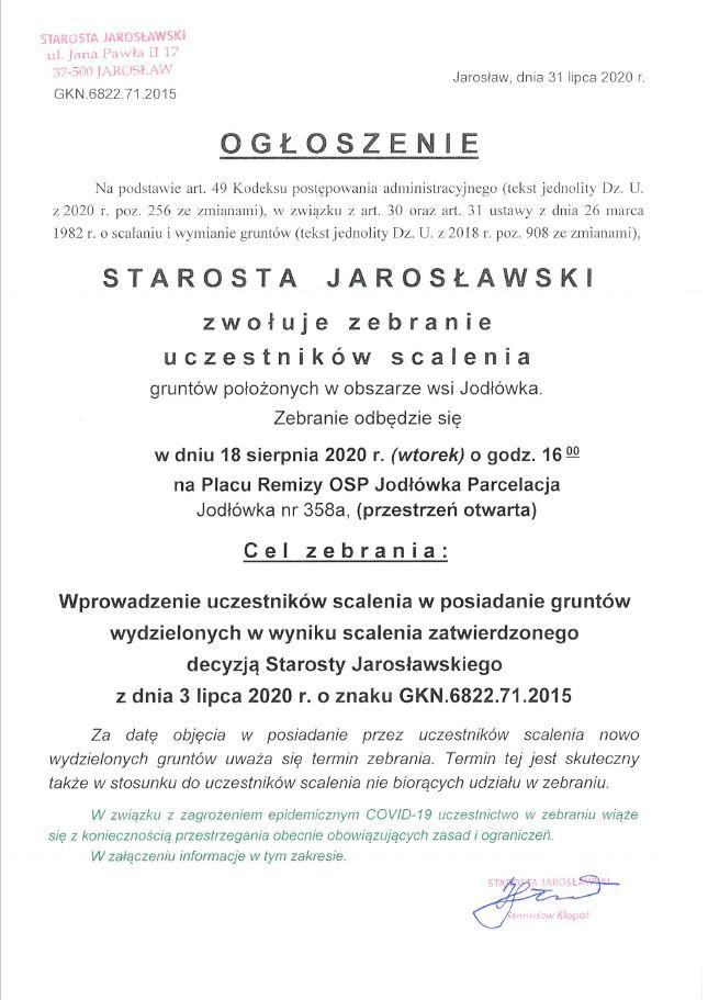 Galeria zdjęć: Zebranie uczestników scalenia miejscowości Jodłówka